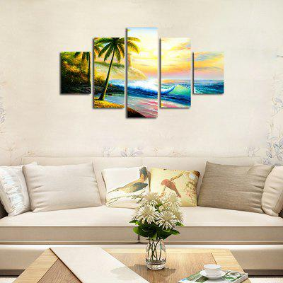 No Frame Canvas Modern Simple Living Room Hang Painting Seaside Picture 5PCSPrints<br>No Frame Canvas Modern Simple Living Room Hang Painting Seaside Picture 5PCS<br><br>Brand: Qiaojiahuayuan<br>Craft: Print<br>Form: Five Panels<br>Material: Canvas<br>Package Contents: 5 x Print<br>Package size (L x W x H): 42.00 x 5.00 x 5.00 cm / 16.54 x 1.97 x 1.97 inches<br>Package weight: 0.4000 kg<br>Painting: Without Inner Frame<br>Product size (L x W x H): 150.00 x 90.00 x 1.00 cm / 59.06 x 35.43 x 0.39 inches<br>Product weight: 0.4000 kg<br>Shape: Vertical Panoramic<br>Style: Landscape<br>Subjects: Landscape<br>Suitable Space: Living Room