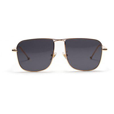 Box Metal Sunglasses Female European and American Popular New Glasses Male Street Photography Expert Ocean Mirror