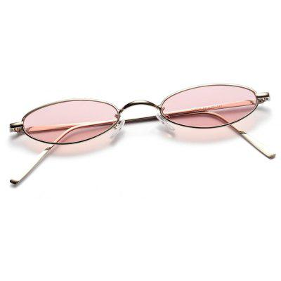 Cat Eye Metal Sun Sunglasses Female European and American Blogger Transparent Co