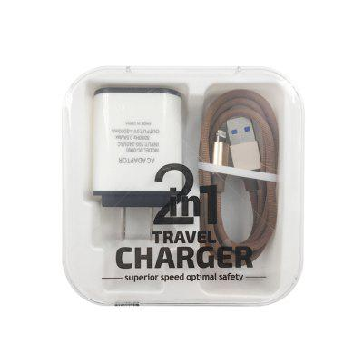 F121 8 PIN Usb Cable Charger Portable Travel Wall Charger Adapter US Plug Phone Charger ujoin travel portable us plug power adapter micro usb charging cable black blue 100 240v