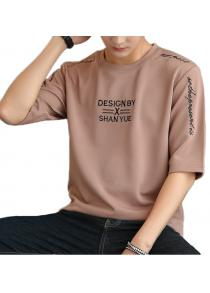 New products gadgets Fashion Embroidery Men's Five-Point Sleeve T-shirt