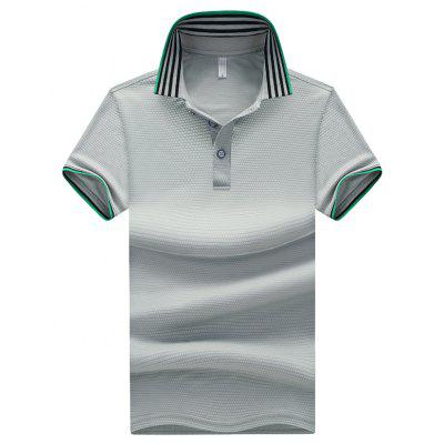 Pure Color Striped Polo ShirtMens Short Sleeve Tees<br>Pure Color Striped Polo Shirt<br><br>Collar: Turn-down Collar<br>Color Style: Solid<br>Fabric Type: Twill<br>Feature: Breathable<br>Material: Polyester<br>Package Contents: 1 x T-shirt<br>Pattern Type: Solid<br>Sleeve Length: Short<br>Style: Active<br>Type: Regular<br>Weight: 0.5300kg