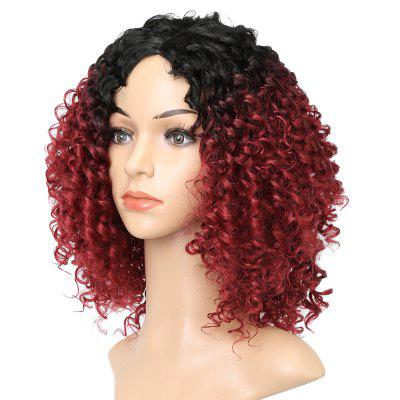 Wine Red Dark Root Afro Kinky Curly Synthetic Hair Wigs for African American mens autumn winter round toe martin boots black genuine leather ankle plush short boots for men casual flat lace up cotton shoes
