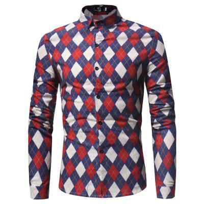 Spring and Autumn New Mens Long Sleeved Shirt