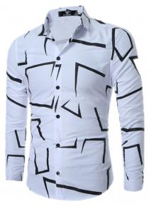 Geometric Printed Shirt for Mens Shirts