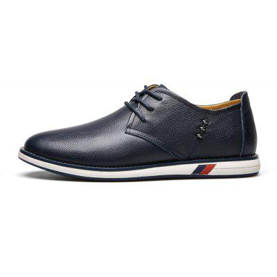 Men Business Lacing Leather Causal ShoesMen's Oxford<br>Men Business Lacing Leather Causal Shoes<br><br>Available Size: 38 39 40 41 42 43 44<br>Closure Type: Lace-Up<br>Embellishment: Metal<br>Gender: For Men<br>Outsole Material: Rubber<br>Package Contents: 1 x Shoes(pair)<br>Pattern Type: Solid<br>Season: Summer, Winter, Spring/Fall<br>Toe Shape: Pointed Toe<br>Toe Style: Closed Toe<br>Upper Material: Genuine Leather<br>Weight: 1.4784kg