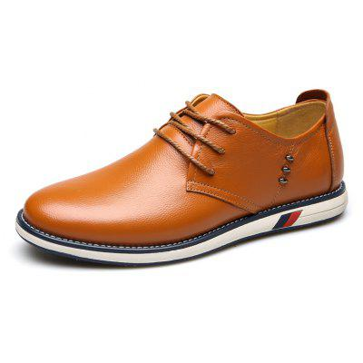 Men Business Lacing Leather Causal Shoes