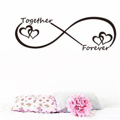 Valentines Love Together Forever Quotes Wall Stickers Home Decor