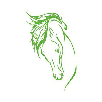 Vinyl Removable Decal Head Of Horse Wall Sticker Murals for Living Room