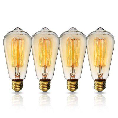 SUPli Edison Bulb 40W Incandescent Filament Vintage Antique Style Light Bulb