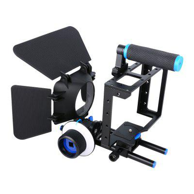 Aluminum DSLR Camera Cage   Follow Focus F1  Matte Box for DSLR Camera
