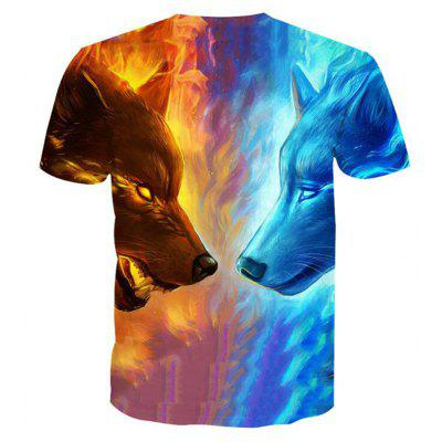 Mens Casual 3D Print Wolf Short Sleeves T-shirtMens Short Sleeve Tees<br>Mens Casual 3D Print Wolf Short Sleeves T-shirt<br><br>Collar: Round Neck<br>Embellishment: 3D Print<br>Fabric Type: Broadcloth<br>Material: Polyester, Spandex<br>Package Contents: 1 x T-shirt<br>Pattern Type: Character<br>Sleeve Length: Short Sleeves<br>Style: Casual<br>Weight: 0.1800kg