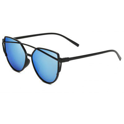 Buy Women Metal Frame Mirrored Oversized Cat Eye Glasses Eyewear Sunglasses, OCEAN BLUE, Apparel, Glasses, Stylish Sunglasses, Men's Sunglasses for $5.99 in GearBest store