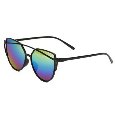 Buy Women Metal Frame Mirrored Oversized Cat Eye Glasses Eyewear Sunglasses, MULTI-A, Apparel, Glasses, Stylish Sunglasses, Men's Sunglasses for $5.99 in GearBest store