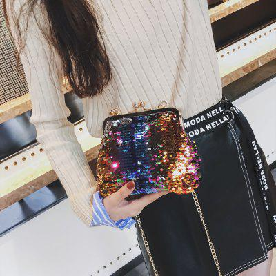 Shell Female Color Sequins Small Fashion Chain Single Shoulder Slanted Span BagCrossbody Bags<br>Shell Female Color Sequins Small Fashion Chain Single Shoulder Slanted Span Bag<br><br>Closure Type: Snap Closure<br>Embellishment: Chains<br>Gender: For Women<br>Handbag Size: Mini(&lt;20cm)<br>Handbag Type: Crossbody bag<br>Hardness: Soft<br>Interior: Cell Phone Pocket<br>Main Material: PVC<br>Occasion: Versatile<br>Package Contents: 1 x Bag<br>Package size (L x W x H): 19.00 x 6.00 x 17.00 cm / 7.48 x 2.36 x 6.69 inches<br>Package weight: 0.4500 kg<br>Pattern Type: Geometric<br>Product size (L x W x H): 18.00 x 5.00 x 16.00 cm / 7.09 x 1.97 x 6.3 inches<br>Product weight: 0.4000 kg<br>Strap Length: 125cm<br>Style: Fashion<br>With Pendant: No