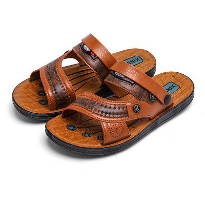 Mens Fashion Slippers Sandals Beach ShoesMens Sandals<br>Mens Fashion Slippers Sandals Beach Shoes<br><br>Available Size: 40-45<br>Closure Type: Slip-On<br>Embellishment: None<br>Gender: For Men<br>Heel Hight: 2cm<br>Occasion: Casual<br>Outsole Material: Rubber<br>Package Contents: 1xShoes(Pair)<br>Pattern Type: Striped<br>Sandals Style: Slides<br>Style: Rome<br>Upper Material: Full Grain Leather<br>Weight: 1.2000kg