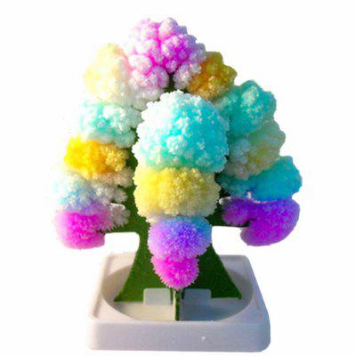 Creative DIY Colorful Rainbow Paper Tree Blossom Model Toy