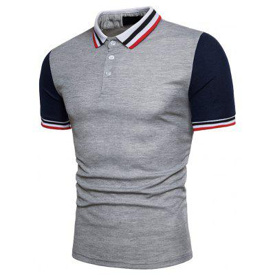 New Fashion European Code Men Thread Collar Short Sleeve Polo ShirtMens Short Sleeve Tees<br>New Fashion European Code Men Thread Collar Short Sleeve Polo Shirt<br><br>Collar: Turn-down Collar<br>Color Style: Contrast Color<br>Fabric Type: Twill<br>Material: Cotton<br>Package Contents: 1xPolo Shirt<br>Pattern Type: Patchwork<br>Sleeve Length: Short<br>Style: Casual<br>Type: Regular<br>Weight: 0.3000kg