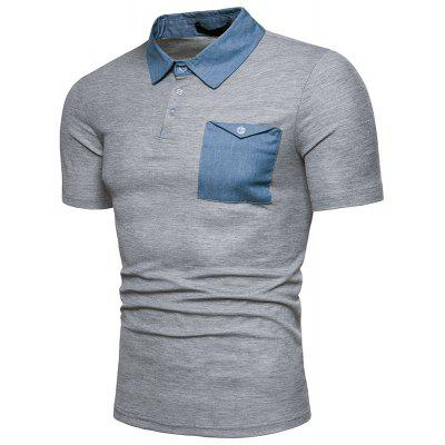 New Summer Casual Denim Collar MenS Short Sleeve Polo ShirtMens Short Sleeve Tees<br>New Summer Casual Denim Collar MenS Short Sleeve Polo Shirt<br><br>Collar: Turn-down Collar<br>Color Style: Solid<br>Fabric Type: Satin<br>Material: Cotton<br>Package Contents: 1xPolo Shirt<br>Pattern Type: Solid<br>Sleeve Length: Short<br>Style: Casual<br>Type: Loose<br>Weight: 0.3000kg