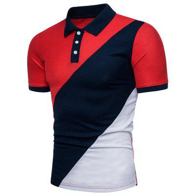 Summer New Color  Mens Short Sleeve Polo ShirtMens Short Sleeve Tees<br>Summer New Color  Mens Short Sleeve Polo Shirt<br><br>Collar: Turn-down Collar<br>Color Style: Contrast Color<br>Fabric Type: Satin<br>Material: Cotton<br>Package Contents: 1x Polo shirt<br>Pattern Type: Patchwork<br>Sleeve Length: Short<br>Style: Casual<br>Type: Loose<br>Weight: 0.3000kg
