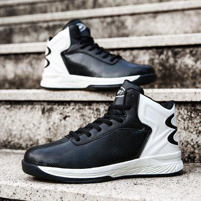 New Mens Sports Basketball ShoesMen's Sneakers<br>New Mens Sports Basketball Shoes<br><br>Available Size: 39-44<br>Closure Type: Lace-Up<br>Feature: Breathable<br>Gender: For Men<br>Outsole Material: Rubber<br>Package Contents: 1 x shoes(pair)<br>Package Size(L x W x H): 33.00 x 20.00 x 12.00 cm / 12.99 x 7.87 x 4.72 inches<br>Package weight: 0.5000 kg<br>Pattern Type: Patchwork<br>Product weight: 0.5000 kg<br>Season: Spring/Fall<br>Upper Material: PU