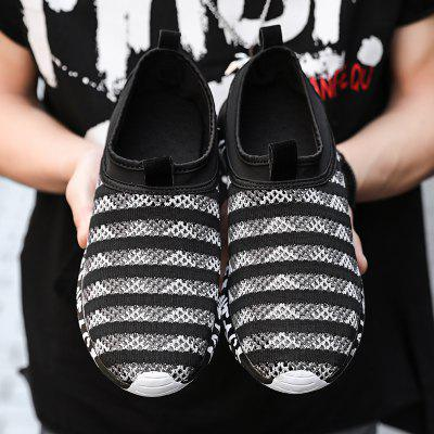 Flying Woven Breathable Mesh Zebra Stripes Mens ShoesFlats &amp; Loafers<br>Flying Woven Breathable Mesh Zebra Stripes Mens Shoes<br><br>Available Size: 39-44<br>Closure Type: Slip-On<br>Embellishment: None<br>Gender: For Men<br>Outsole Material: Rubber<br>Package Contents: 1 x shoes(pair)<br>Pattern Type: Striped<br>Season: Summer<br>Toe Shape: Pointed Toe<br>Toe Style: Closed Toe<br>Upper Material: Cloth<br>Weight: 1.7424kg
