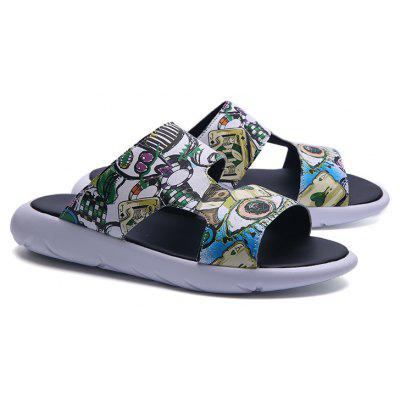 New Men Summer Fashion Painted SlippersMens Slippers<br>New Men Summer Fashion Painted Slippers<br><br>Available Size: 39-44<br>Embellishment: Letter<br>Gender: For Men<br>Outsole Material: Rubber<br>Package Contents: 1 x Shoes (pair)<br>Pattern Type: Hand-painted<br>Season: Summer<br>Slipper Type: Outdoor<br>Style: Novelty<br>Upper Material: PU<br>Weight: 1.5840kg
