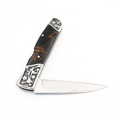 Outdoor Stainless Steel Folding Knife and Fineness Decorative Handle