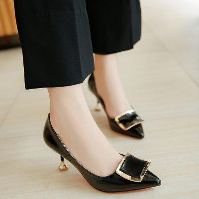 Fashion Pointed High-Heeled Nude Color Square Buckle ShoesWomens Sandals<br>Fashion Pointed High-Heeled Nude Color Square Buckle Shoes<br><br>Available Size: 35.36.37.38.39<br>Closure Type: Slip-On<br>Embellishment: Metal<br>Gender: For Women<br>Heel Type: Stiletto Heel<br>Occasion: Wedding<br>Package Content: 1xShoes(pair)<br>Pattern Type: Solid<br>Sandals Style: T-Strap<br>Style: Sweet<br>Upper Material: PU<br>Weight: 1.1232kg