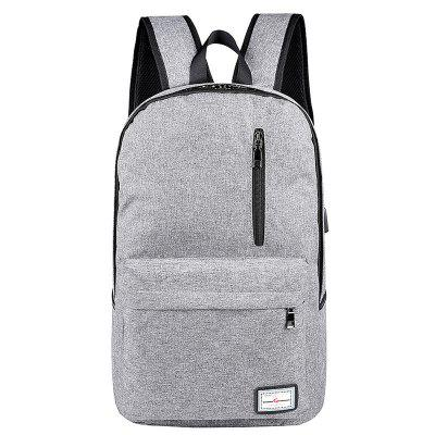 Usb Charging Backpack Outdoor Canvas Student Bag Fashion Large Capacity Travel