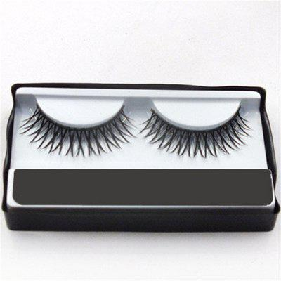 2pcs  Natural Long Sparse Cross False Eyelashes Makeup