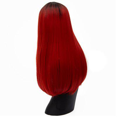 Fashion Long Straight Wine Red Bob Hair for Women Heat Resistant Wig 24 inch medium long wavy heat resistant fiber hair white lace front synthetic wig