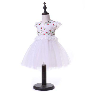 Yoyoxiu CX1203 - 1 Girls Dress Embroidered Fashion Lace SkirtGirls dresses<br>Yoyoxiu CX1203 - 1 Girls Dress Embroidered Fashion Lace Skirt<br><br>Dresses Length: Knee-Length<br>Material: Polyester, Cotton Blend<br>Neckline: Round Collar<br>Package Contents: 1 x Dress<br>Pattern Type: Others<br>Season: Summer<br>Silhouette: Ball Gown<br>Sleeve Type: Butterfly Sleeve<br>Style: Fashion<br>Weight: 0.2240kg<br>With Belt: No