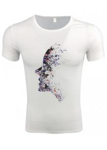 Men's Short-sleeved Round Neck Printed T-shirt