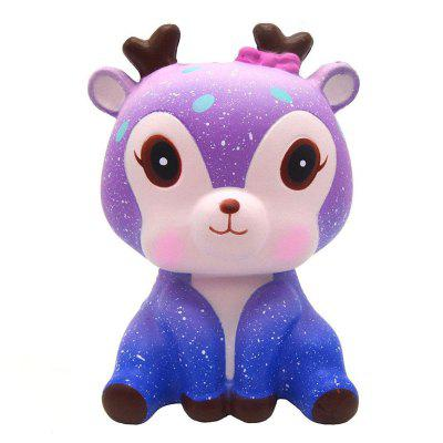 Jumbo Squishy Cute Deer Cream Scented Slow Rising Squeeze Strap Kids Toy