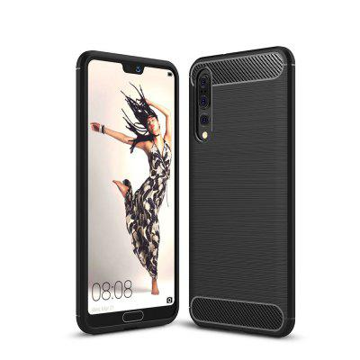 Case for Huawei P20 Pro Shockproof Back Cover Solid Color Soft Carbon fiber