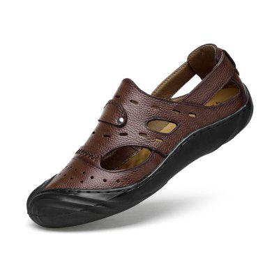 ZEACAVA Mens New Stylish Breathable Leather ShoesMens Sandals<br>ZEACAVA Mens New Stylish Breathable Leather Shoes<br><br>Available Size: 39-44<br>Closure Type: Slip-On<br>Embellishment: Hollow Out<br>Gender: For Men<br>Occasion: Casual<br>Outsole Material: Rubber<br>Package Contents: 1xShoes(Pair)<br>Pattern Type: Solid<br>Season: Spring/Fall<br>Toe Shape: Round Toe<br>Toe Style: Closed Toe<br>Upper Material: Pigskin<br>Weight: 1.2000kg