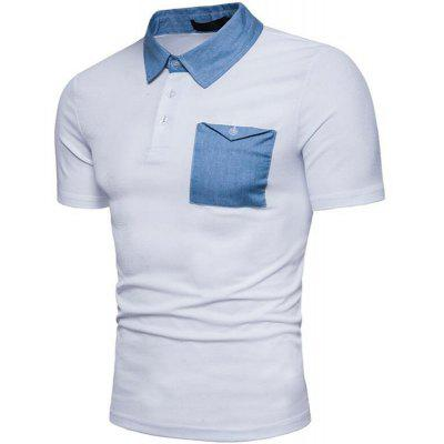 Men Denim Patch Pocket Two Tone Short Sleeve Casual Polo ShirtMens Short Sleeve Tees<br>Men Denim Patch Pocket Two Tone Short Sleeve Casual Polo Shirt<br><br>Collar: Polo Collar<br>Color Style: Contrast Color<br>Fabric Type: Broadcloth<br>Material: Cotton, Cotton Blends<br>Package Contents: 1 x Polo<br>Pattern Type: Solid<br>Sleeve Length: Short<br>Style: Casual<br>Type: Slim<br>Weight: 0.2200kg