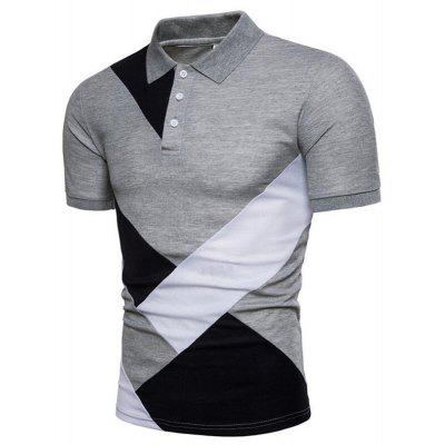 Men Geometric Color Cotton Top Turndown Collar Short Sleeve Polo ShirtMens Short Sleeve Tees<br>Men Geometric Color Cotton Top Turndown Collar Short Sleeve Polo Shirt<br><br>Collar: Polo Collar<br>Color Style: Contrast Color<br>Fabric Type: Jersey<br>Material: Cotton, Cotton Blends<br>Package Contents: 1 x Polo<br>Pattern Type: Patchwork<br>Sleeve Length: Short<br>Style: Casual<br>Type: Slim<br>Weight: 0.2400kg
