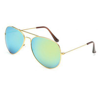 Buy Unisex Women Men Vintage Sunglasses Fashion Aviator Mirror Lens Glasses, GREENISH BLUE, Apparel, Glasses, Stylish Sunglasses, Men's Sunglasses for $5.99 in GearBest store