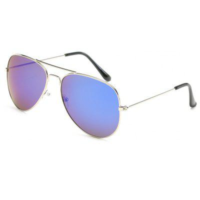 Buy Unisex Women Men Vintage Sunglasses Fashion Aviator Mirror Lens Glasses, SAPPHIRE BLUE, Apparel, Glasses, Stylish Sunglasses, Men's Sunglasses for $5.99 in GearBest store