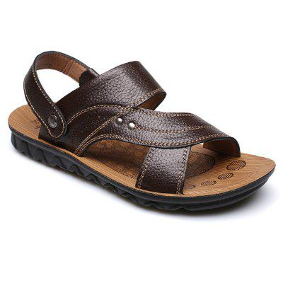 Summer New Casual Leather Beach Slippers Sandals for MenMens Sandals<br>Summer New Casual Leather Beach Slippers Sandals for Men<br><br>Available Size: 39-44<br>Closure Type: Slip-On<br>Embellishment: None<br>Gender: For Men<br>Occasion: Casual<br>Outsole Material: PVC<br>Package Contents: 1 x Sandals (pair)<br>Pattern Type: Solid<br>Sandals Style: Slides<br>Style: Leisure<br>Upper Material: Leather<br>Weight: 1.2000kg