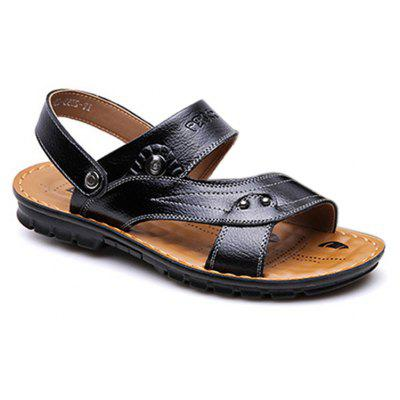 Fashion Summer Outdoor Leather Sandals Casual Slippers for MenMens Sandals<br>Fashion Summer Outdoor Leather Sandals Casual Slippers for Men<br><br>Available Size: 39-44<br>Closure Type: Slip-On<br>Embellishment: Metal<br>Gender: For Men<br>Occasion: Casual<br>Outsole Material: Rubber<br>Package Contents: 1 x Sandals (pair)<br>Pattern Type: Solid<br>Sandals Style: Slides<br>Style: Leisure<br>Upper Material: Genuine Leather<br>Weight: 1.2000kg
