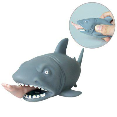 Rubber Man Eating Shark Squeeze Toy