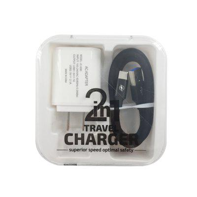 F121 Type-C USB Cable  Portable Travel Wall 2USB Charger Adapter US Plug Phone orico aluminum usb type c male to micro 2 0 cable female charge data adapter for nokia n1 tablet macbook pc