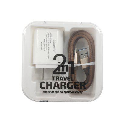 F121 Type-C USB Cable  Portable Travel Wall 2USB Charger Adapter US Plug Phone car ac digital camera travel battery charger for nikon en el15 black
