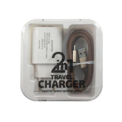 F121 Type-C USB Cable Portable Travel Wall 2USB Charger Adapter EU Plug Phone orico aluminum usb type c male to micro 2 0 cable female charge data adapter for nokia n1 tablet macbook pc