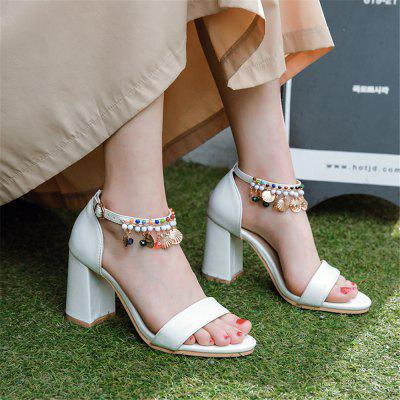 High Heel Chain Peep-Toe Ladys SandalsWomens Sandals<br>High Heel Chain Peep-Toe Ladys Sandals<br><br>Available Size: 32,33,34,35,36,37,38,39,40,41,42,43,44,45,46<br>Closure Type: Buckle Strap<br>Embellishment: Beading<br>Gender: For Women<br>Heel Height: 8.5<br>Heel Height Range: High(3-3.99)<br>Heel Type: Chunky Heel<br>Insole Material: PU<br>Lining Material: PU<br>Occasion: Casual<br>Outsole Material: Rubber<br>Package Content: 1 x shoes(pair)<br>Pattern Type: Solid<br>Sandals Style: Ankle Strap<br>Shoe Width: Medium(B/M)<br>Style: Ethnic<br>Technology: Adhesive<br>Upper Material: PU<br>Weight: 1.0080kg