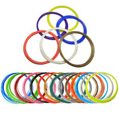 20 Colors 5 Meters ABS Filament for 3D Printer Pen