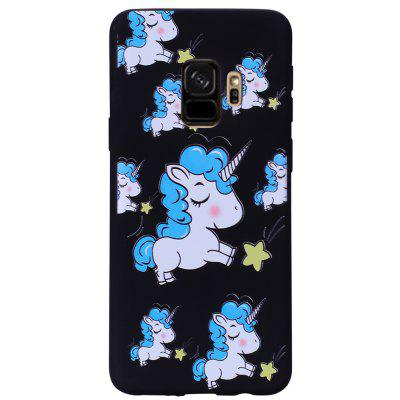 Case for Samsung Galaxy S9 Blue  Unicorn Soft TPU Mobile Phone Protector